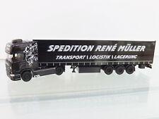 "Herpa 308748 - 1:87 - SCANIA R TL Rideau SZ "" René Müller transporte "" NEUF"