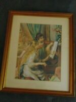 Renoir Jeunes filles au piano Musee d'Orsay Pairs Framed Print Matted FREE SHIP