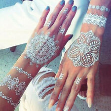 Newest Natural Herbal Henna Cones Temporary Tattoo Set White Body Art Paint Ink