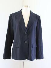 Lafayette 148 New York Womens Navy Blue Wool Blend Blazer Suit Jacket Size 8
