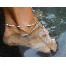 Infinity Bead Silver Plated Foot Chain Anklet Bracelet