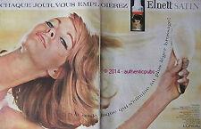 PUBLICITE L'OREAL LAQUE ELNETT SATIN CHEVEUX HAIR DE 1963 FRENCH AD PUB VINTAGE