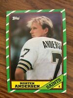 1986 Topps #344 Morton Anderson  New Orleans Saints  NrMt