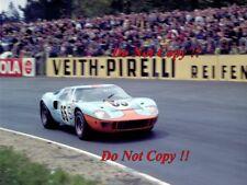 Jacky Ickx & Paul Hawkins JWA Gulf GT40 Nurburgring 1000 Km 1968 Photograph 3