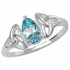 Topaz Anniversary Pear Solitaire Fine Rings