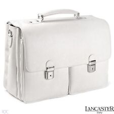 Lancaster Business Bag Made of Genuine Calf Leather Made in ITALY
