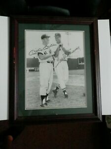Mickey Mantle and Ted Williams dual signed 11 x 14 incredible