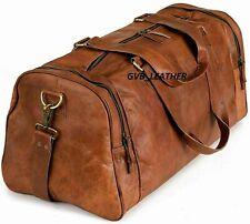 Sac en cuir Fourre-tout de voyage Duffle Gym Vintage Weekend Overnight Men Bag