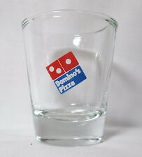 Domino's Pizza Logo on Clear Shot Glass