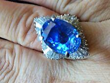 16 CT GIA CEYLON BLUE SAPPHIRE UNHEATED NO HEAT PLATINUM RING