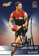 ✺Signed✺ 2012 MELBOURNE DEMONS AFL Card JAMES FRAWLEY