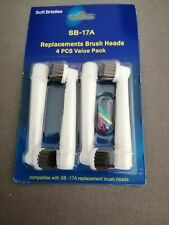 Premium Quality Compatible Replacement Toothbrush Heads SB-17A Pack Of 4 Brush