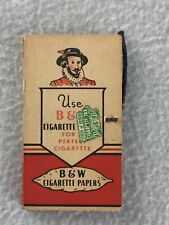 Vintage B&W Cigarette Rolling Paper Book Brown & Williamson Red Cover w/ String