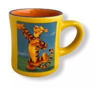 TIGGER Dancing Graphics Mug Ceramic Yellow Orange Winnie the Pooh Disney Store