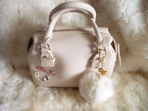 Forever 21 Faux Leather Satchel Tote with Adornments