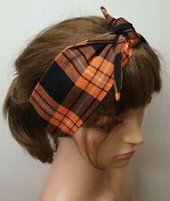 Self tie women headband tie up 50's retro head scarf rockabilly head wear gift