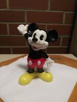 "VTG 1985  Disney Mickey Mouse Pie-Eye  Ceramic Figurine Made in Japan  4"" Tall"