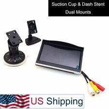 """5"""" Car Monitor, 12-24V All Truck In-Car Tft Lcd Screen Suction Cup & Dash Stand"""