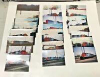 Lot of 25 GTW Train Railroad Snapshot Photos 1990-2000s in Michigan Set 2