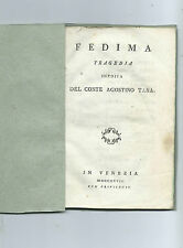 Book fedima tragedy unpublished Scene in Susa five acts Earl Agostino Lair 1797
