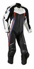 New Men BMW Motorrad Black White Racing Motorcycle Leather Suit Jacket