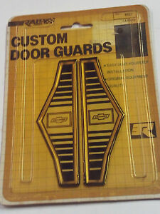 NOS Vintage Camaro Custom Door Guard Trim Distinctive Custom Label