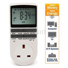 12/24 Hour Digital Electronic UK Plug-in Programmable LCD Timer Switch Socket