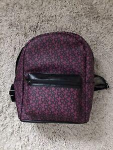 DKNY Magenta Logo Print Backpack New