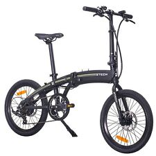 """Elektrisches Fahrrad Elektro-Bike Falten Hybride 20"""" 250W City e-Bike Schwarz"""