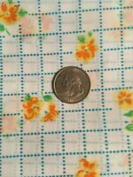 Vintage Semi Sheer Floral and Dotted Squares on White Nylon (?) Fabric    BTHY