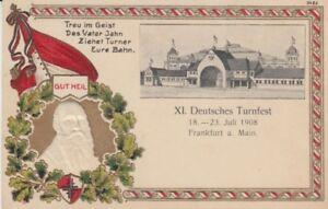 Ansichtskarte Frankfurt  Deutsches Turnfest 1908  Prägedruck
