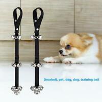 2x Pet Dog Potty Training Door Bells Rope House training Housebreaking Anti Lost