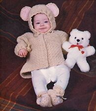 CUTE Baby Bear Jacket & Booties Set/Crochet Pattern INSTRUCTIONS ONLY