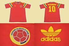 colombia 1990 jersey worldcup away red colombia roja valderrama playera camiseta