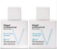 Viviscal Professional Thin to Thick Shampoo Conditioner 8.45 fl oz each DUO