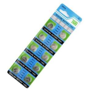 10X AG13 LR44 LR1154 SR44 A76 357A 303 357 Alkaline Coin Cell Button Battery