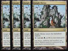 XXX 4x JUNGLE SHRINE englisch commander 2013 (dual land) NM/MINT XXX XXX XXX XXX