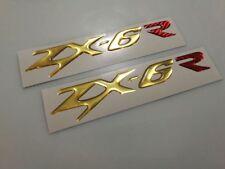 adesivi resinati moto zx6-r ninja kawasaki loghi emblemi stickers 3d in resina