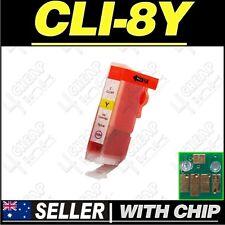 1x Yellow Ink for Canon CLI-8Y iP5200 iP5200R iP5300 iP6600D iP6700D PRO9000