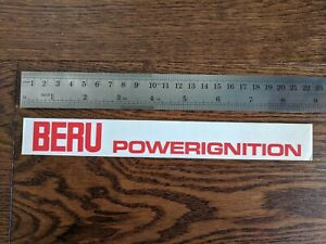 BERU Powerignition Sticker Decal