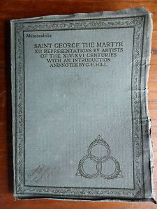 SAINT GEORGE THE MARTYR XII REPRESENTATIONS BY ARTISTS MEDICI SOCIETY 1915