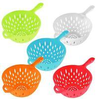 One Handed Colander Plastic Drain Strain Dishwasher Safe Salad Pasta Kitchen