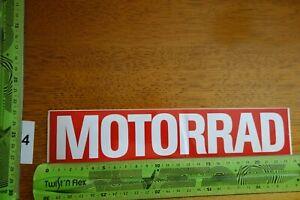 Alter Aufkleber Motorrad Motorsport Magazin MOTORRAD