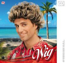Blonde And Brown Surfer Afro Wig Australian Fancy Dress