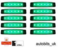 10 X 24V SMD 6 LED GREEN SIDE MARKER LIGHTS POSITION TRUCK TRAILER LORRY BUS