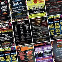 DOWNLOAD FESTIVAL Line Up Posters PHOTO Print POSTER Donnington 2003-Present