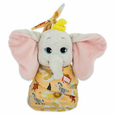 DISNEY PARKS DISNEY BABIES DUMBO PLUSH WITH BLANKET POUCH SELF-STICK FASTENER