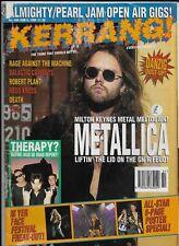 Vintage 1993 KERRANG #446 METALLICA Def Leppard DANZIG Tool THERAPY? Megadeth