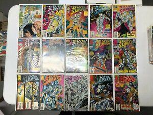 Fantastic Four Comic Lot silver surfer full series 1-146 vf+/nm bagged