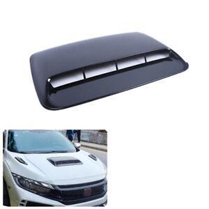 Car SUV Decor Air Flow Intake Outlet Hood Scoop Vent Bonnet Cover ABS Plastic